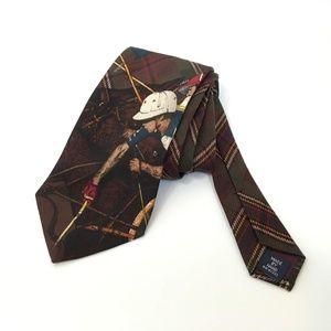 Vintage Ralph Lauren Polo Equestrian Silk Wool Tie